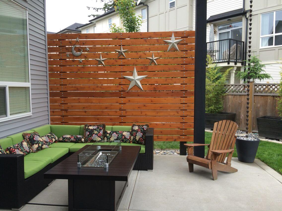 WALL OF FENCE SUN SHADE FOR PATIO