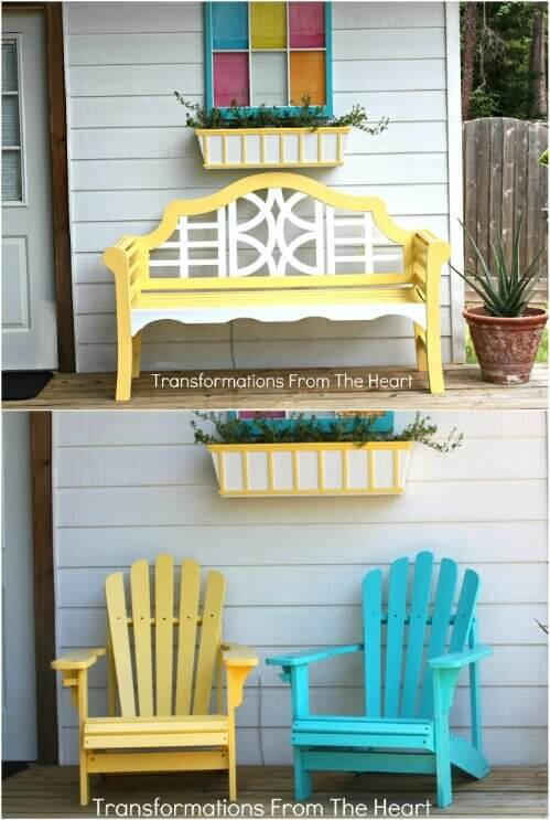 ADD CHEERFULL COLORS TO MAKE PATIO LOOK MORE BEAUTIFULL