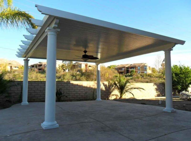 ALUMINUM FREE STANDING PATIO COVERS