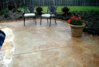 MARBLE COLOR STAMPED CONCRETE PATIO IDEAS