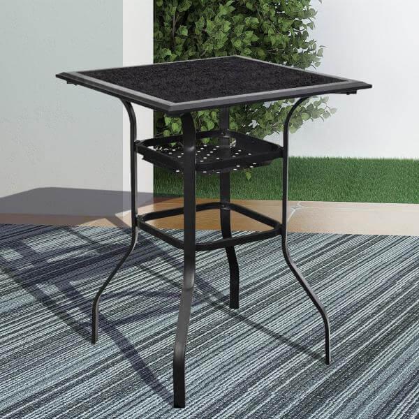METAL BAR HEIGHT PATIO TABLE