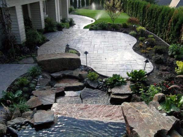 NATURE LOOK STAMPED CONCRETE PATIO IDEAS
