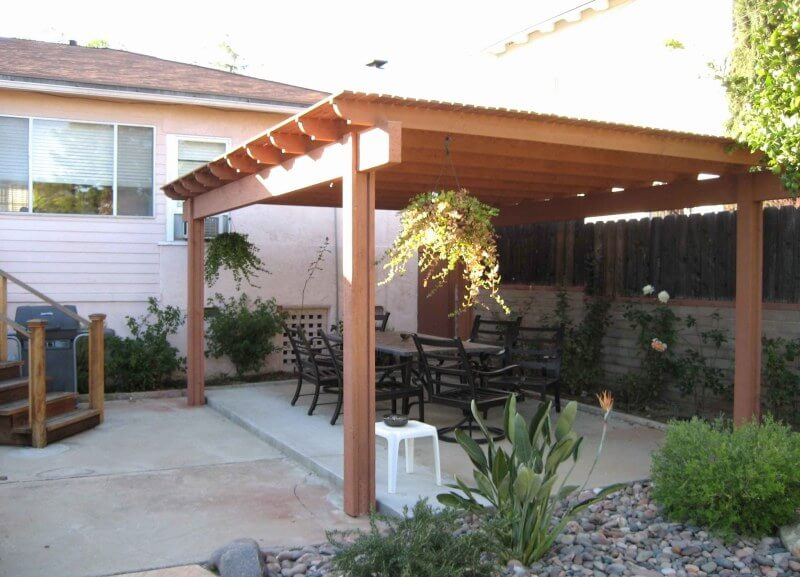 PLASTIC FREE STANDING PATIO COVERS