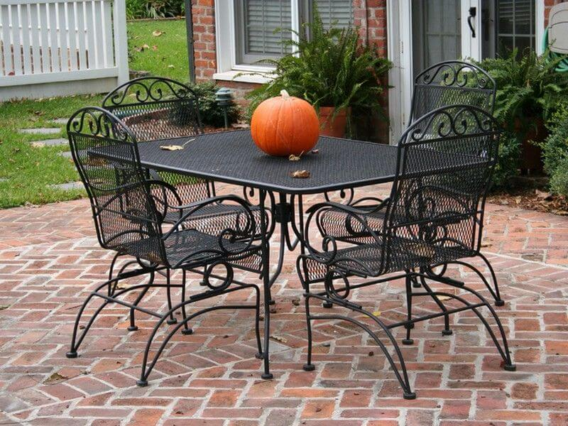 WROUGHT IRON PATIO CHAIRS DESIGN IDEAS