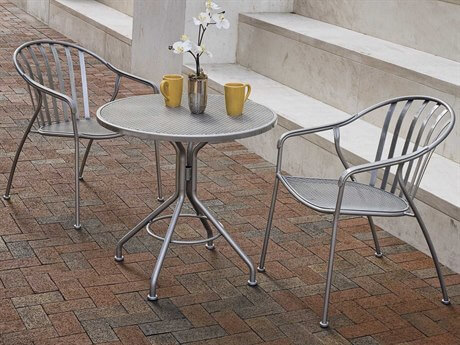 WROUGHT IRON PATIO CHAIRS SET