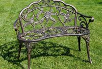 CAST IRON PATIO FURNITURE ROSE STYLE GARDEN BENCH