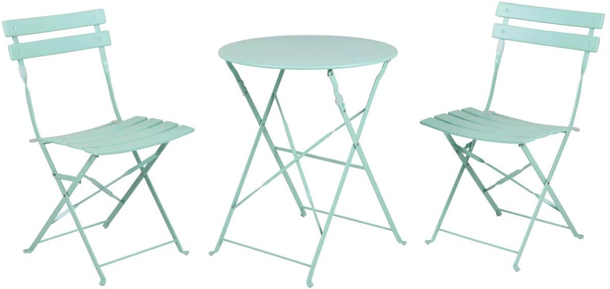 PREMIUM MINT GREEN FOLDING PATIO TABLE AND CHAIRS DESIGN IDEAS