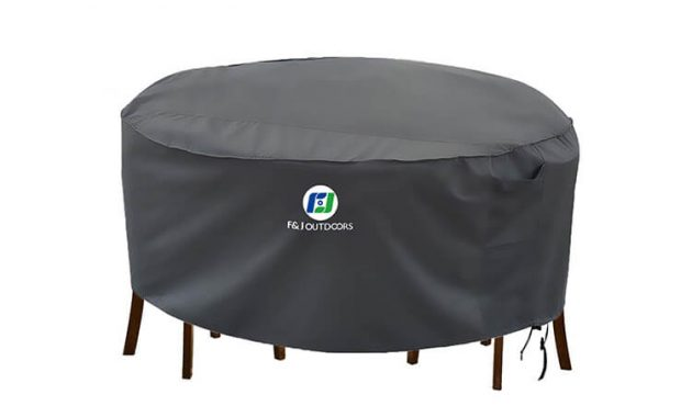 F&J OUTDOOR ROUND PATIO FURNITURE COVER WATERPROOF