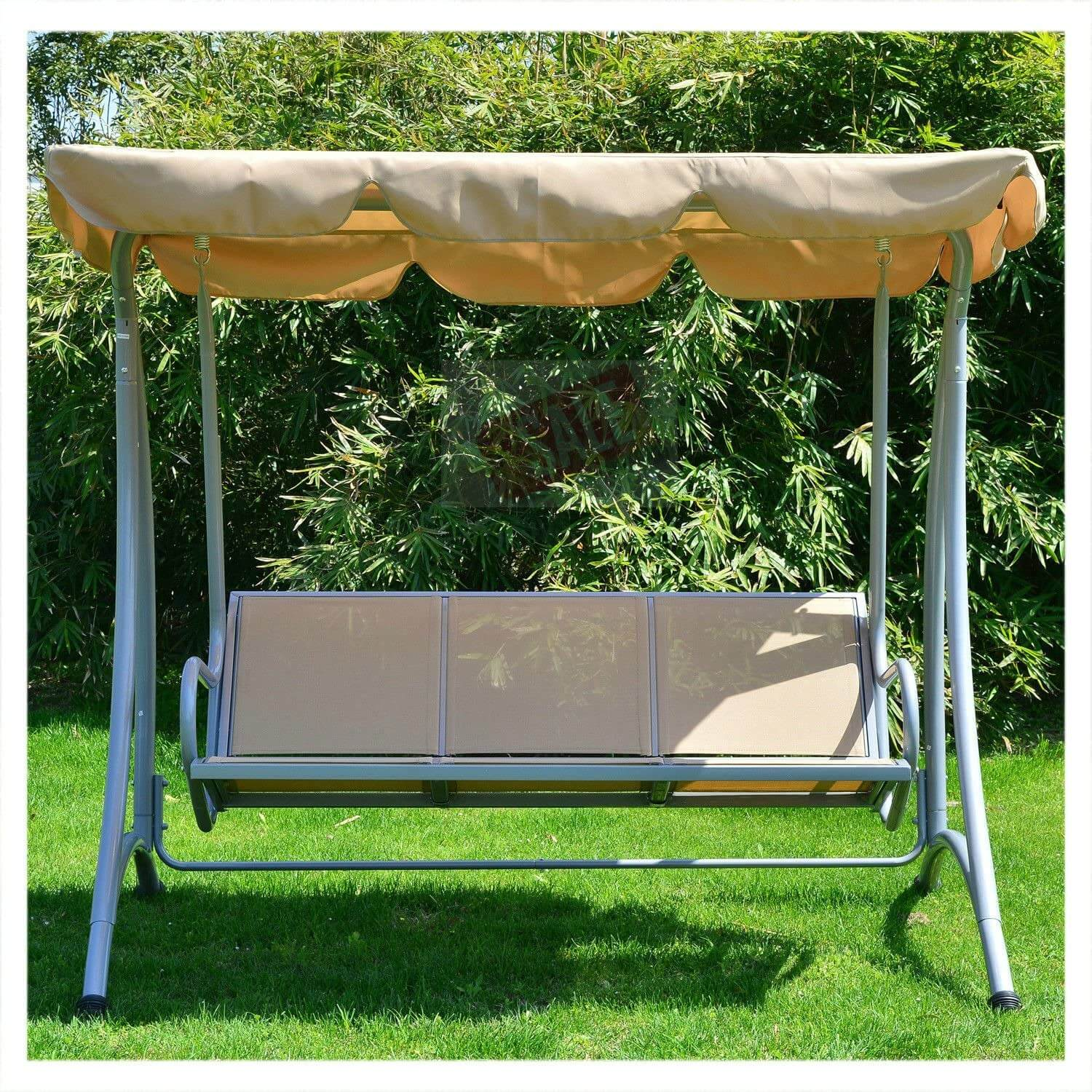 GIANTEX 3 PERSON PATIO ROMANTIC SWING LOVESEAT WITH CANOPY