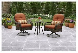 SWIVEL ROCKER PATIO CHAIRS WITH THICK CUSHION