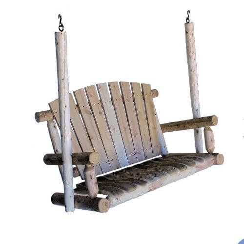 WOOD LOKELAND MILLS 3 PERSON PATIO SWING WITH CANOPY