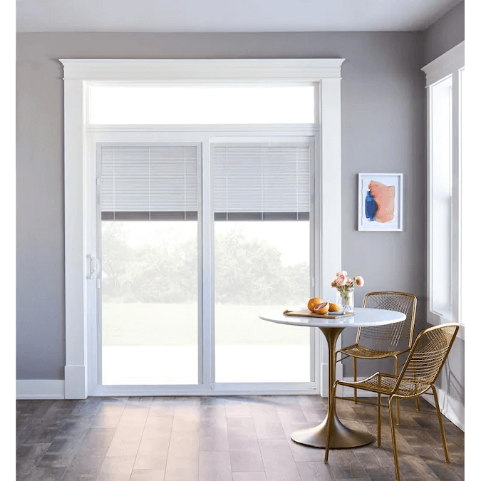DURABLE SLIDING PATIO DOORS WITH BUILT IN BLINDS