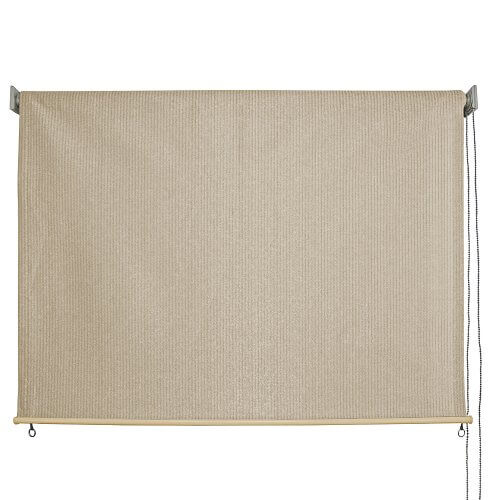 FABRIC ROLL UP PATIO SHADES