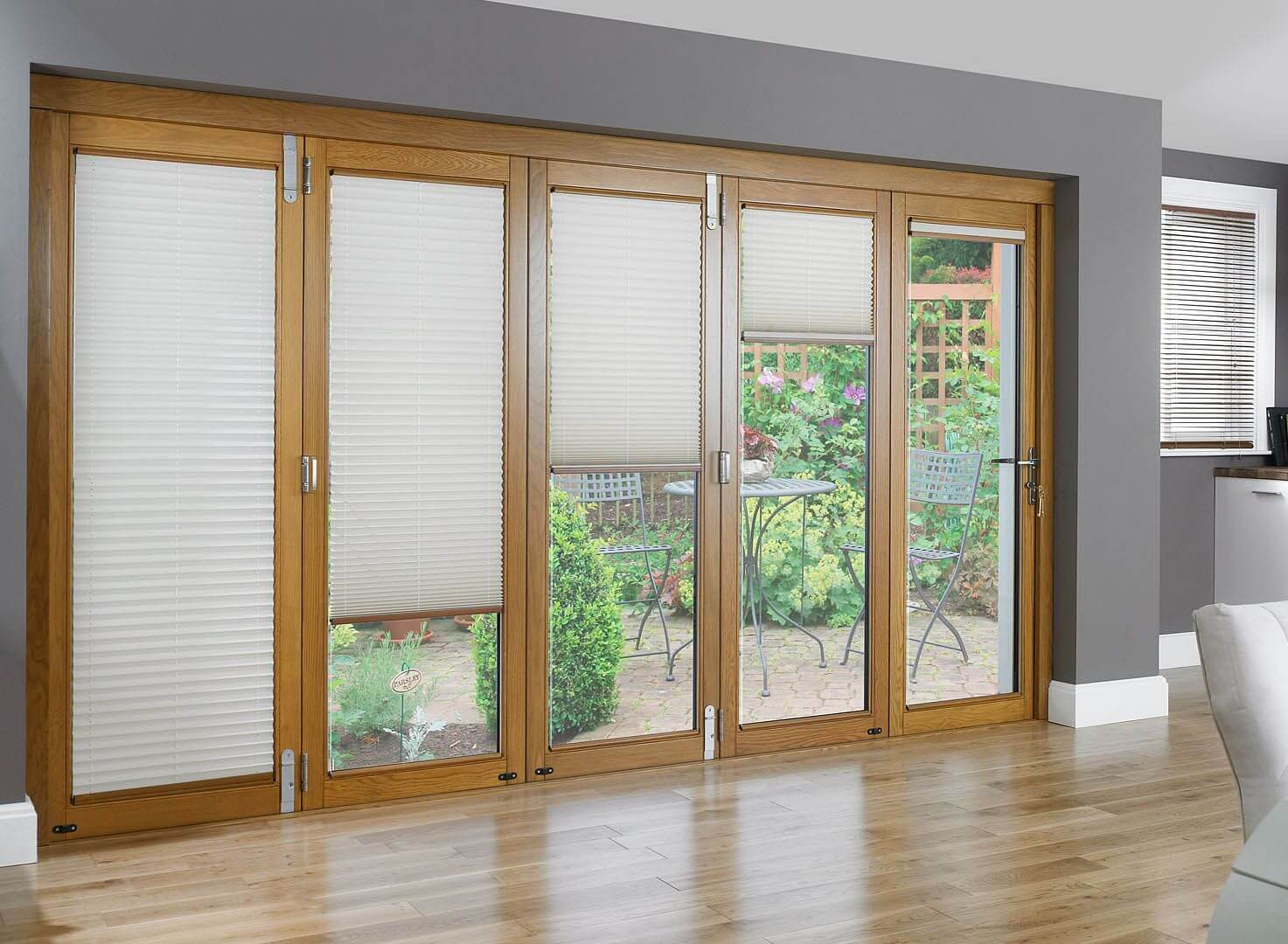 LIDING PATIO DOORS WITH BUILT IN BLINDS