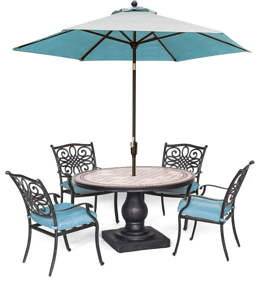 MONACO STYLE ROUND PATIO TABLE AND CHAIRS