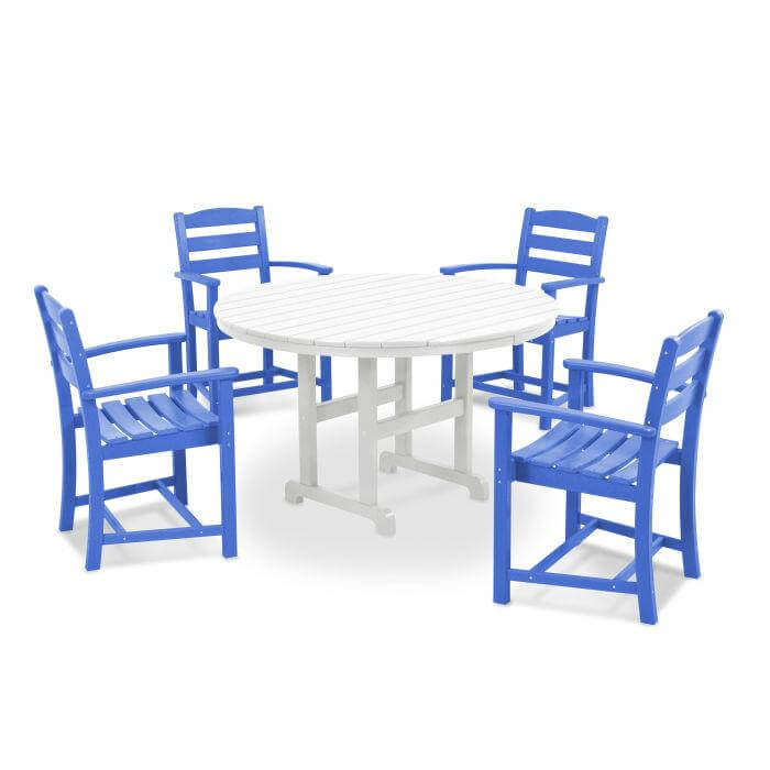 PLAYFUL COLOR ROUND PATIO TABLE AND CHAIRS
