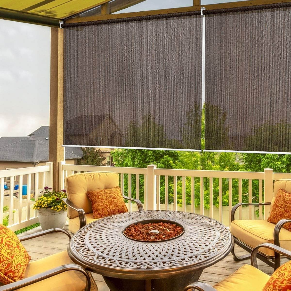 ROLL UP PATIO SHADES TO FILTER THE SUN