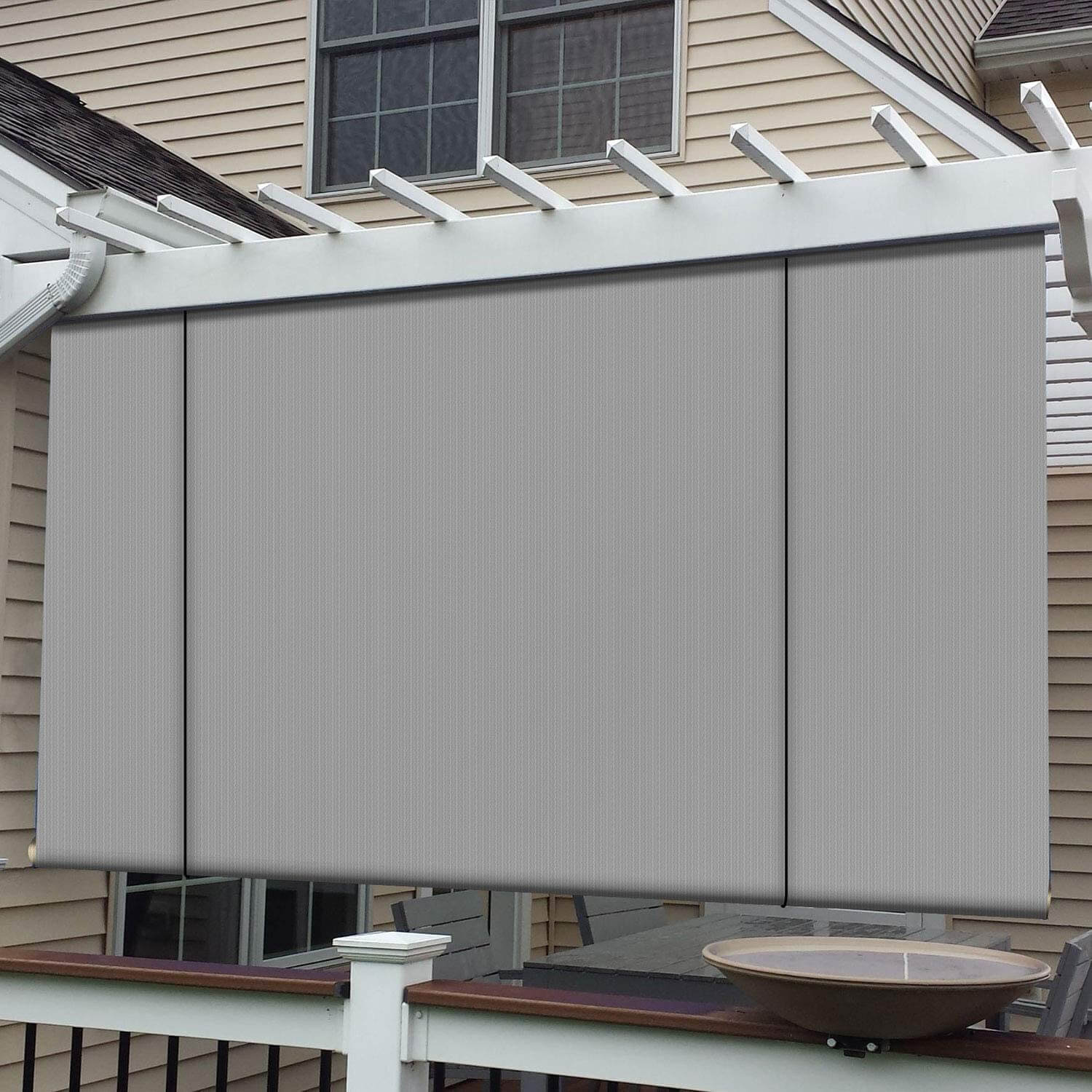 ROLL UP PATIO SHADES WITH TOTAL PROTECTION
