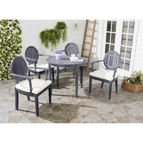 ROUND BACK SEAT ROUND PATIO TABLE AND CHAIRS