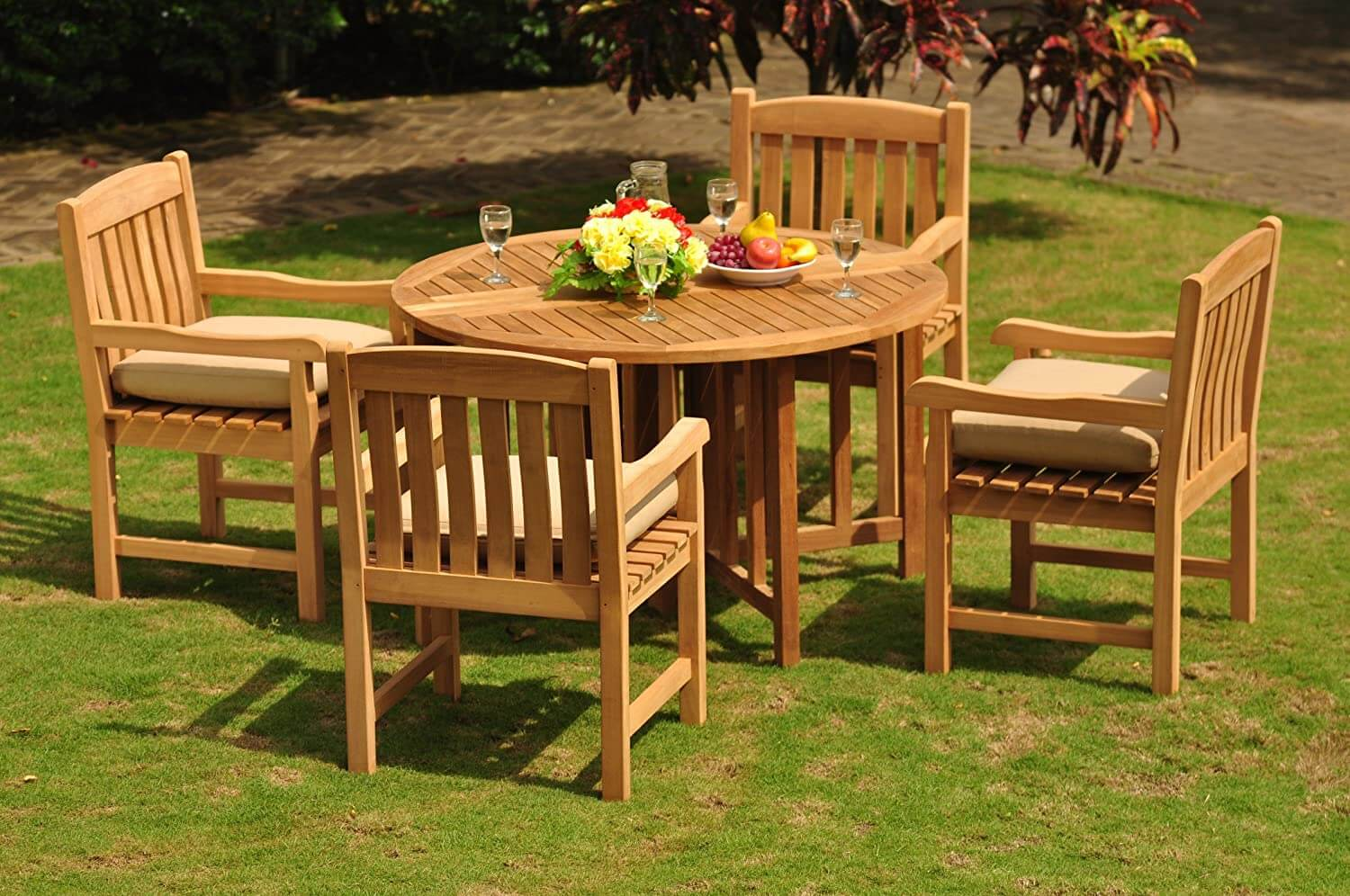 SEMI FORMAL OPTION ROUND PATIO TABLE AND CHAIRS