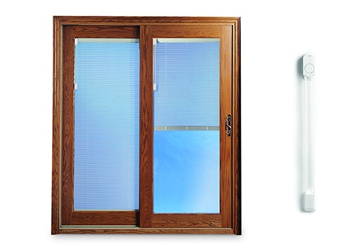 SLIDING PATIO DOORS WITH BUILT IN BLINDS STANDARD