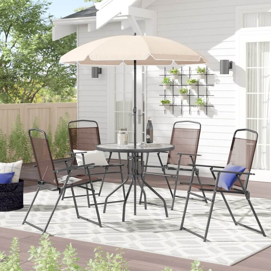 SLIM SET ROUND PATIO TABLE AND CHAIRS