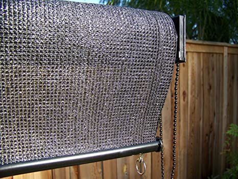 WOVEN ROLL UP PATIO SHADES