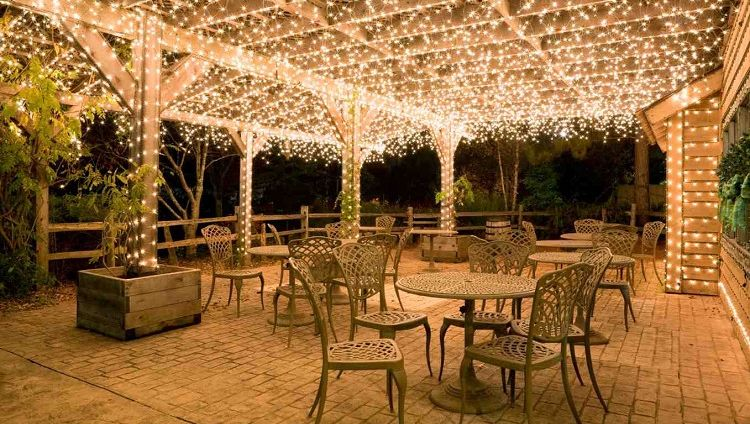 COVER ALL AREA WITH LED PATIO STRING LIGHTS
