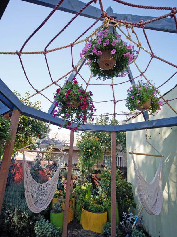 CRAFT MACRAME SHADE FOR INEXPENSIVE PATIO SHADES IDEAS