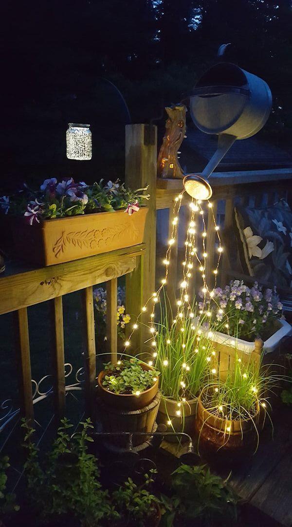 CREATIVE LED PATIO STRING LIGHTS IDEAS. CREATE ARTSY CORNER