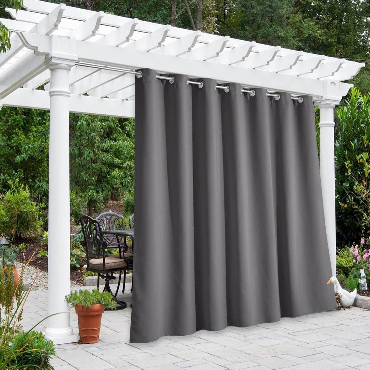 FLEXIBLE SIZE AND COLORS OUTDOOR CURTAINS FOR PATIO