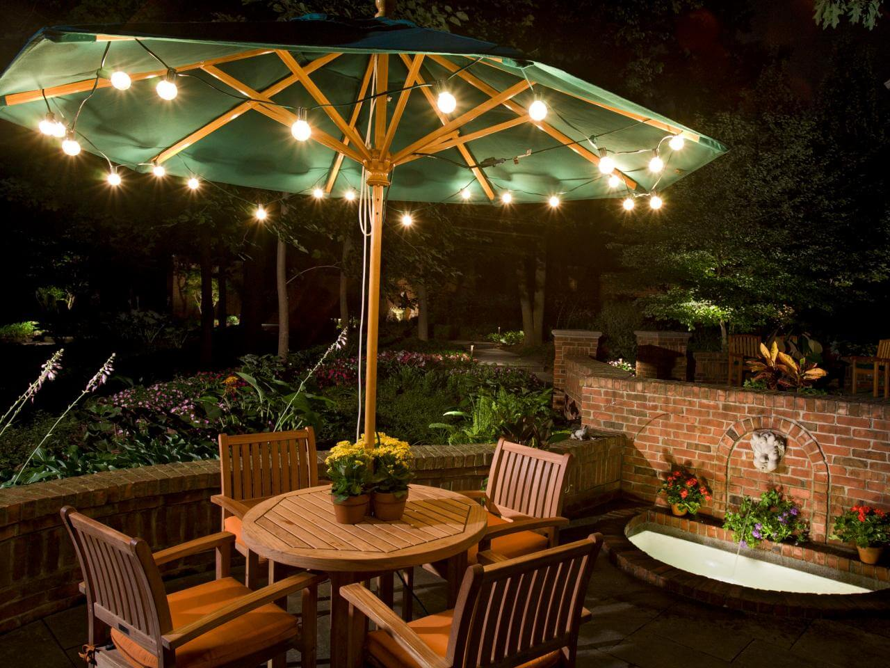 FOLLOW THE FOCAL POINT TO ADD LED PATIO STRING LIGHTS
