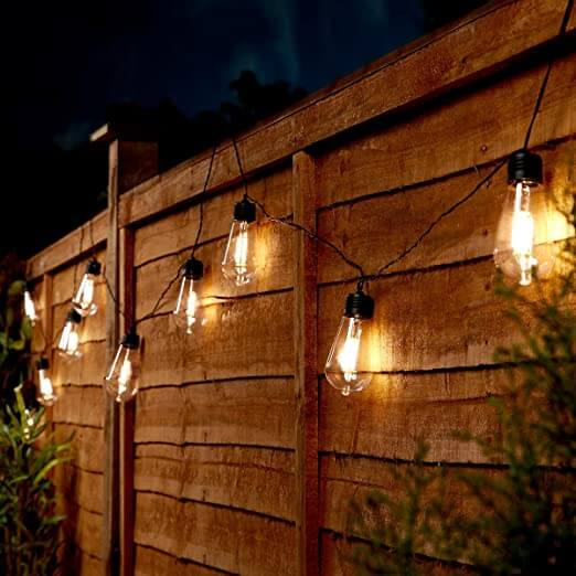 HOOK LED PATIO STRING LIGHTS ON THE PANEL