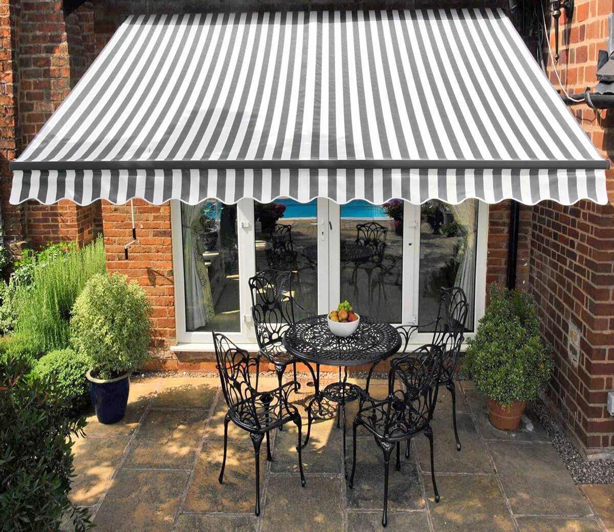INEXPENSIVE PATIO SHADES IDEAS WITH ADD AWNING