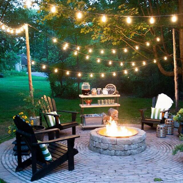 INSTALL FREESTANDING POLES FOR LED PATIO STRING LIGHTS