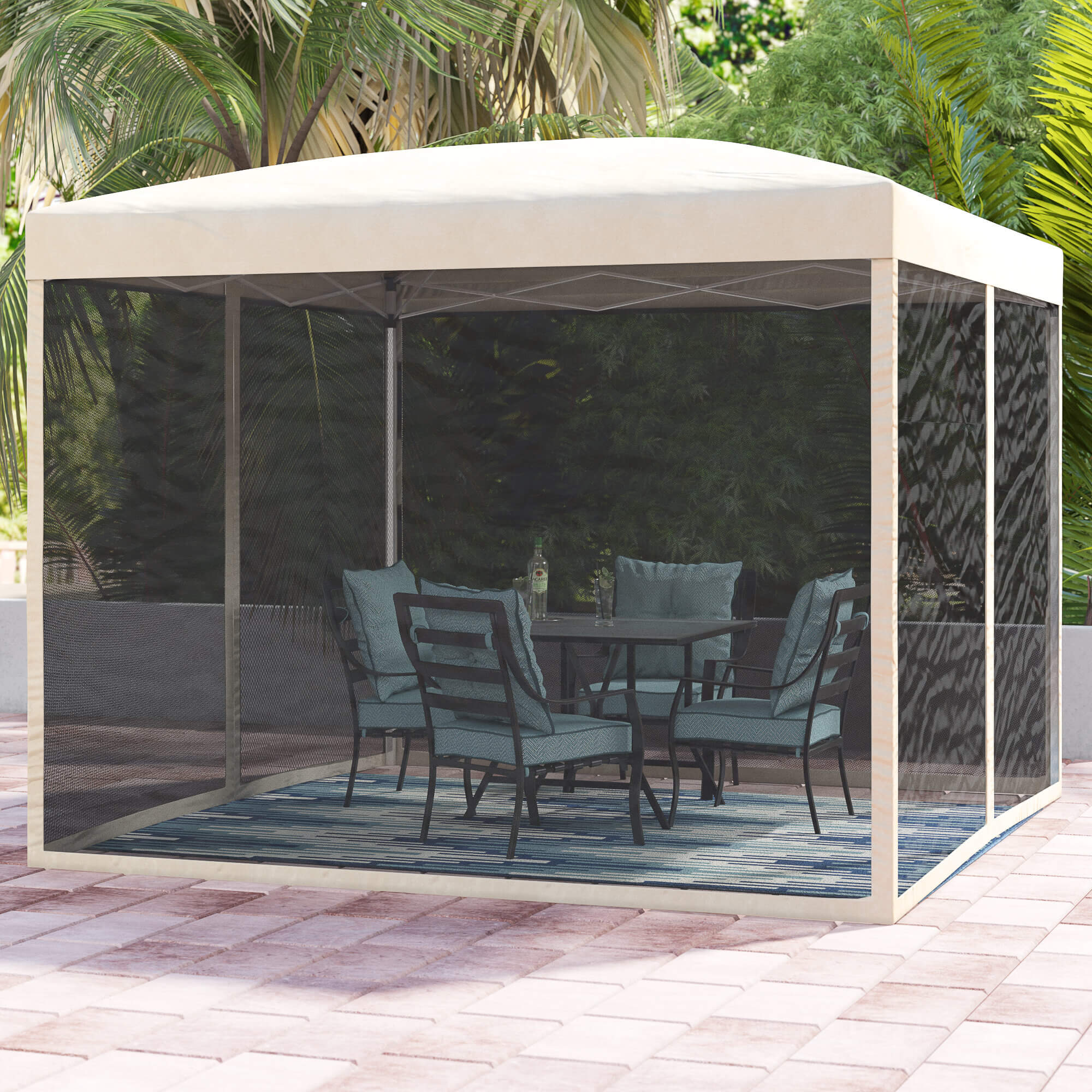 INSTALL POP UP CANOPY FOR INEXPENSIVE PATIO SHADES IDEAS