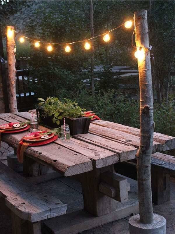 LED PATIO ONE STRING LIGHTS ONLY