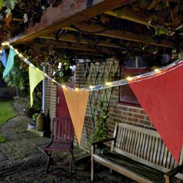 PAIR WITH BUNTING FOR ADD LED PATIO STRING LIGHTS