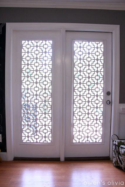 PATIO DOOR WINDOW TREATMENTS IDEAS WITH PVC