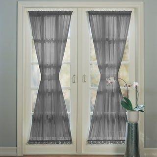 PATIO DOOR WINDOW TREATMENTS IDEAS WITH SIMPLE DOOR CURTAIN