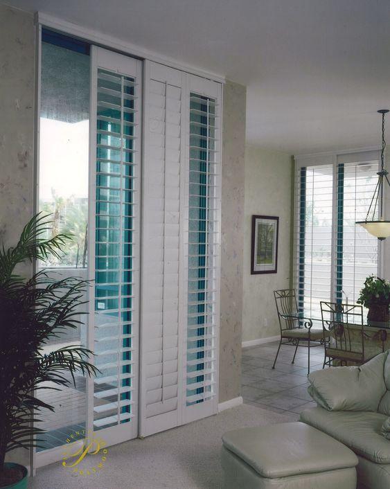 PATIO DOOR WINDOW TREATMENTS IDEAS WITH SIMPLE SHUTTERS