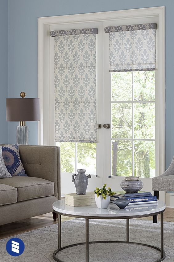 PATIO DOOR WINDOW TREATMENTS IDEAS WITH VERTICAL PATTERNED SCREEN