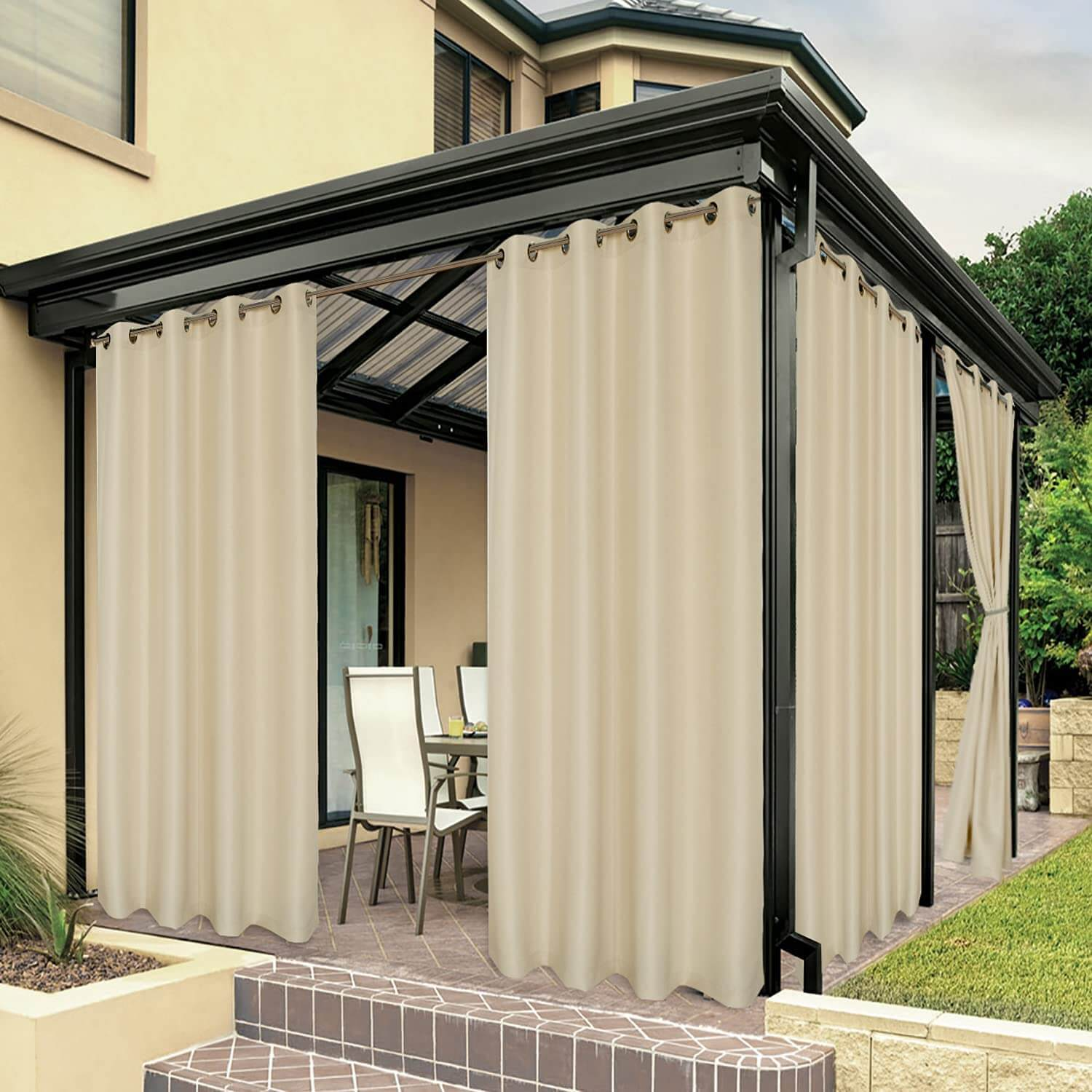 POLYESTER OUTDOOR CURTAINS FOR PATIO