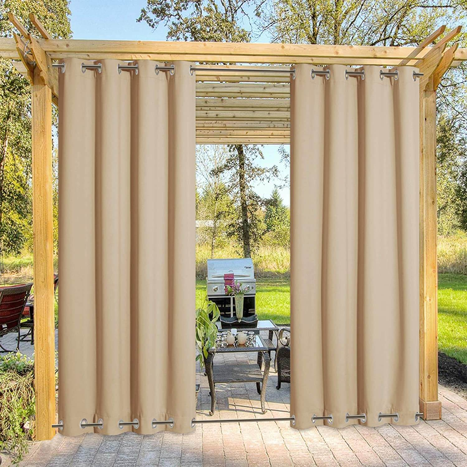 SOFT GLOW OUTDOOR CURTAINS FOR PATIO