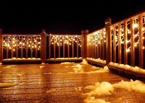 WRAP ON FENCE FOR LED PATIO STRING LIGHTS
